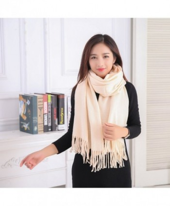 YCHY Large Cashmere Pashmina Champagne in Wraps & Pashminas