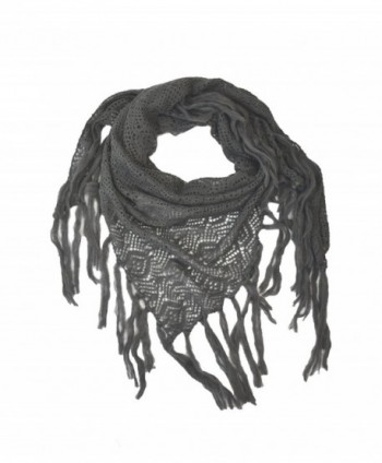 Modadorn Knitting Pattern Triangle Charcoal in Fashion Scarves