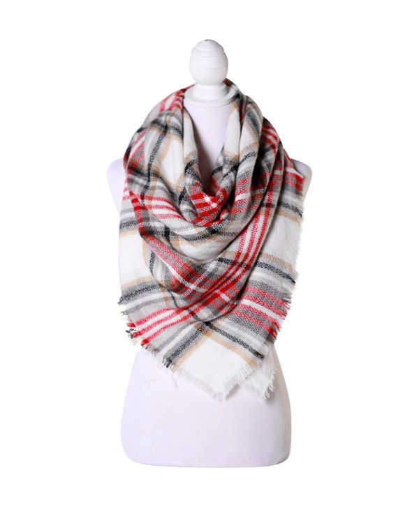 Red/White/Black Women Fashion Warm Winter Blanket Scarf FunkyMonkey Fashion - CI1874U9XIU