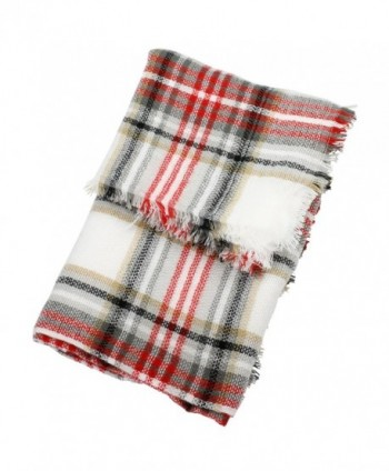 Red White Fashion Blanket FunkyMonkey in Cold Weather Scarves & Wraps
