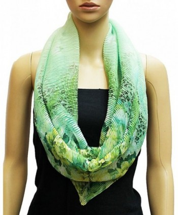 NYFASHION101 Womens Floral Stretchable Infinity in Fashion Scarves