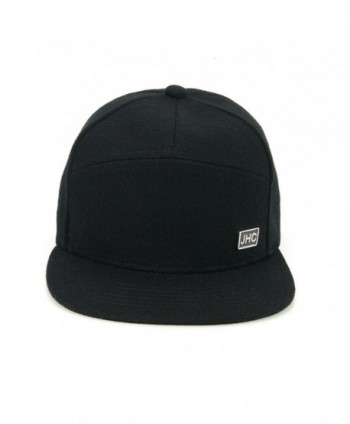 JHC Structured Woolen Snapback Black in Men's Baseball Caps