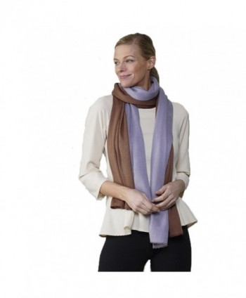 Color Block Scarf - Purple & Mauve - CB188UC2EYG
