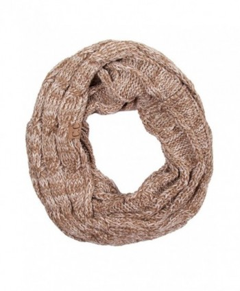 ScarvesMe CC Trendy Warm Chunky Soft Cable Knit Infinity Scarf - Taupe - CL12M0KN8OJ