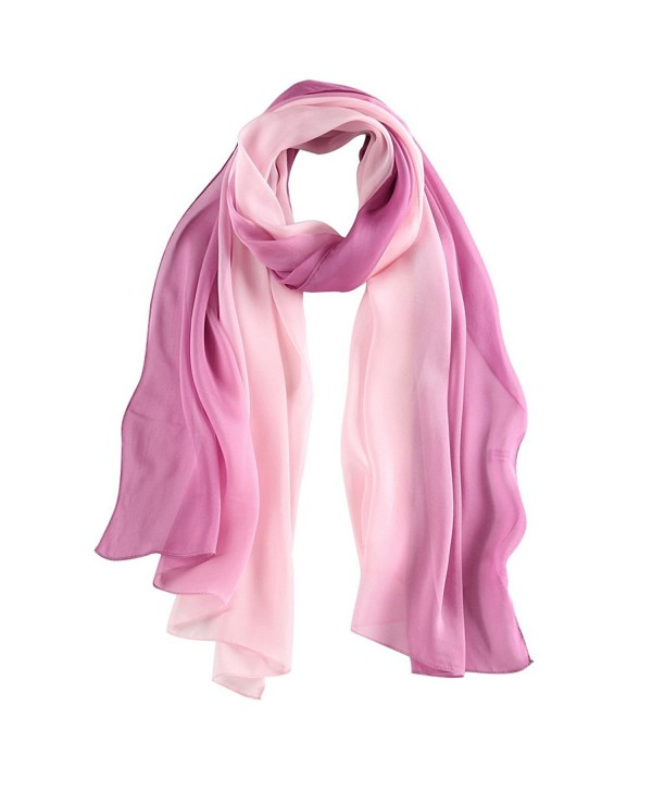 STORY OF SHANGHAI Womens 100% Mulberry Silk Head Scarf For Hair Ladies Scarf Gift for Valentine's Day - Pink2 - CT183L35G90