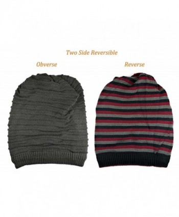 Winter Reversible Beanie Infinity Slouchy in Fashion Scarves