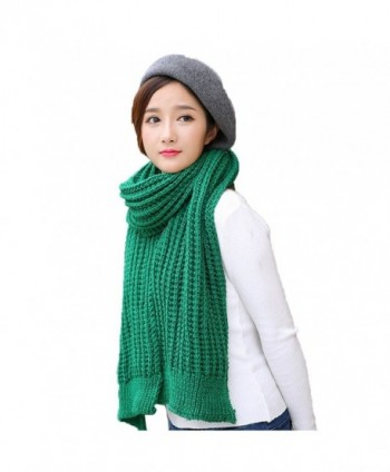 Solid Color Knitted Ladies Section in Cold Weather Scarves & Wraps
