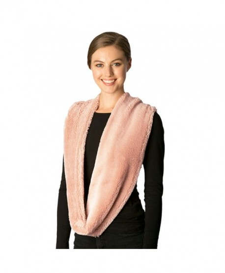 Fashion 21 Women's Thick & Soft Faux Fur Infinity Fashion Scarf Shawl Wrap - Indi Pink - CI18680E2X9