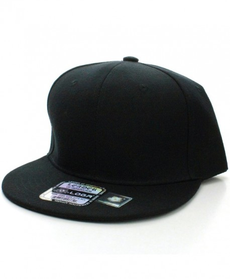 Nice Shades Plain Adjustable Snapback Hats Caps (Many Colors) - Black - CS18646ET0U