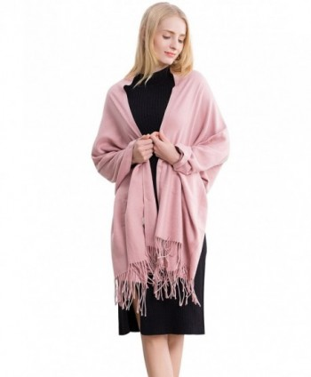 Women's Autumn/Winter Shawl Wrap Scarf Solid Colors Scarves Long Pashmina - 260-pink - CJ187K7GN3W