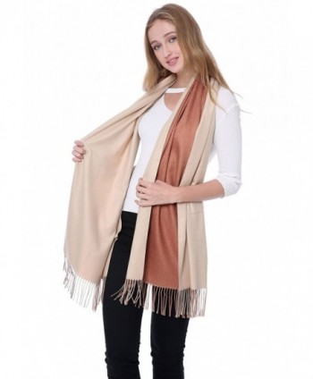 "Cashmere Blend Pashminas Scarf Wraps Shawl Soft Warm 78"" x 26"" Reversible Scarves - Camel/Beige(12) - CJ187HKHOID"