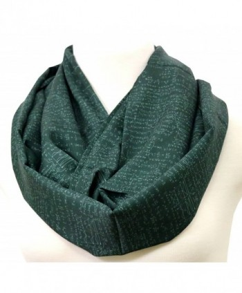 Mathematics Infinity Scarf Blackboard green birthday gift for her anniversary present - C8184RK4C82