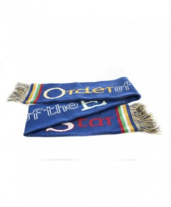 OES Order of the Eastern Star Blue Knit Scarf - CQ184SY52CS