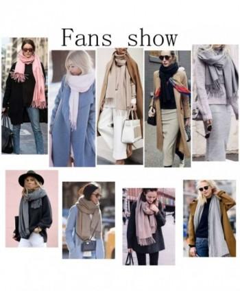 af8b2e7c2c9 SojoS Womens Large Soft Cashmere Feel Pashmina Shawls Wraps Winter Scarf  SC304 - C2 Black - CV186O9Z4YX