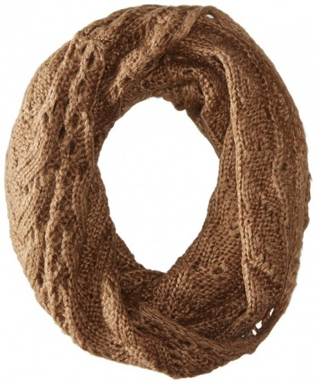 D&Y Women's Cable Knit Single Loop Infinity Scarf - Taupe - C611WD3XKK1