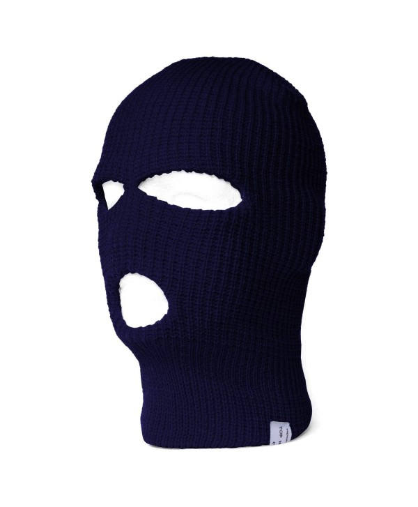 Navy Three Holed Ski Mask - C9112FQEFEV