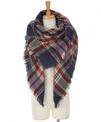 Cashmere Blanket Scarves Buffalo Checked
