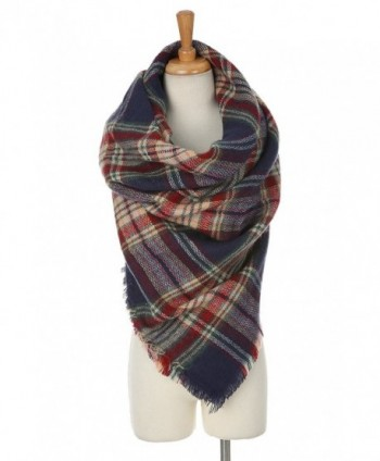 Cashmere Blanket Scarves Buffalo Checked in Fashion Scarves