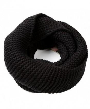 1PCS Winter Warm Knitted Thicken Neckerchief -Neck Warmer Scarf Soft Shawl - Black - CZ186LLLTU5