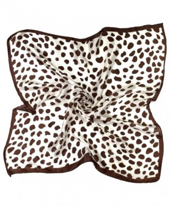 Brown Leopard Printed Small Fine Pure Silk Square Scarf - CT12FW0LYFT