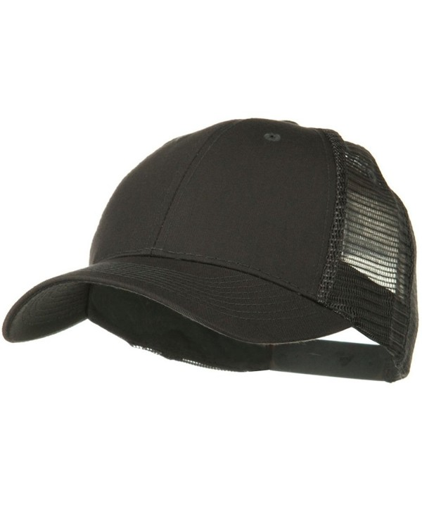 Solid Cotton Twill Low Profile Nylon Mesh Back Cap - Charcoal Grey - CC11918EVPT