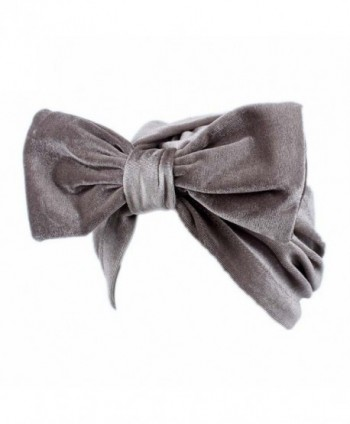 Litetao Women Fashion Bow Casual Chemo Hat Beanie Scarf Turban Head Wrap Cap - Gray - CC185GATOSA