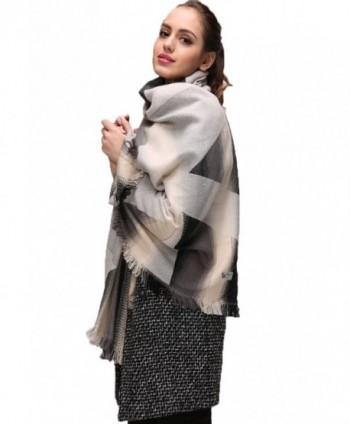 Eleter Womens Blacket Tassels Winter in Cold Weather Scarves & Wraps