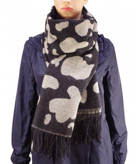 Yacun Women's Leopard Print Soft Pashmina Shawl/ Wrap/Stole Infinity Scarf - Black - C6128MDBYTT