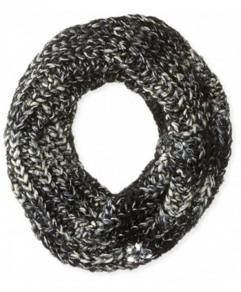 Betsey Johnson Women's Mixed-Yarn Knit Infinity Scarf with Faux Gems - Black - CZ121M1FDYF