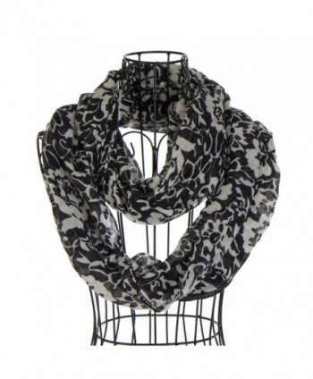 Pashmina Blossom Floral Infinity Scarfs