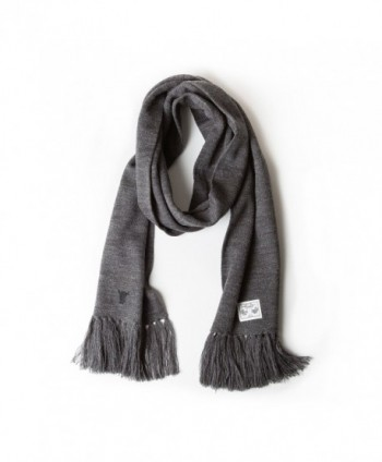 TORRO Premium 100% Wool Scarf - Charcoal Grey - C412NGG0NYY