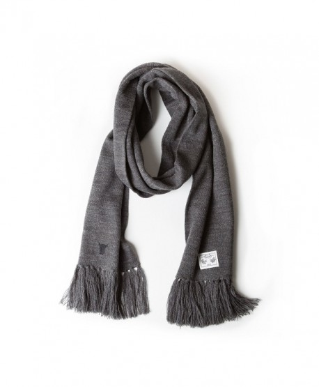 TORRO Premium 100% Wool Scarf - Charcoal Grey - C412NGG0NYY