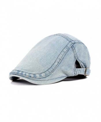 Yosang Classic Adjustable Newsboy Cap Jeans Ivy Flat Hat Two Colors - Light Blue - C212OCRYMIU