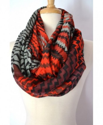 Anytime Scarf Womens Chevron Infinity