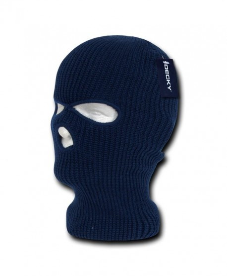 Decky Solid Blank Three Hole Skii and Snowboard Mask (6 Colors)- Navy - CI112ICXA97