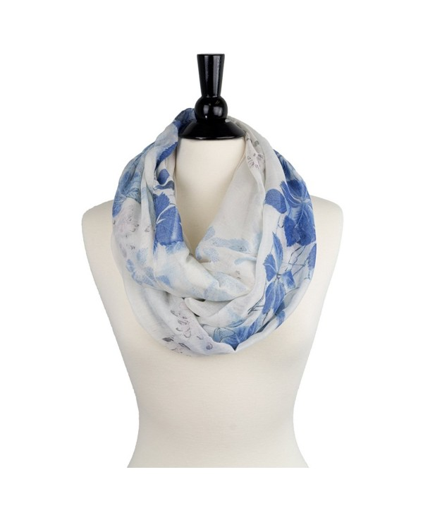Pop Fashion Butterfly Infinity Scarves - White - C4187M9AR3N