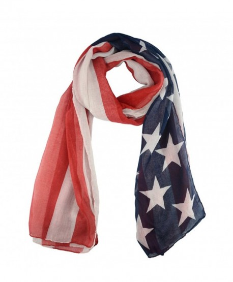 Lenikis Vintage American USA Flag Soft Light Weight Scarves - Usa Flag - CW126PPN4PN