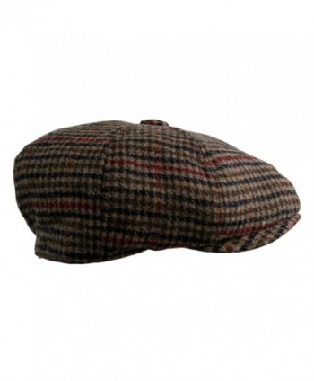 Blend Applejack Houndstooth Plaid Newsboy in Men's Newsboy Caps