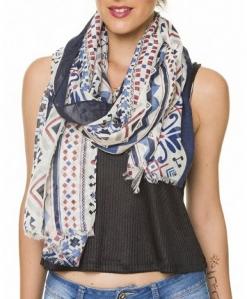 Lightweight Fashion Geometrical Geometric Melifluos in Fashion Scarves