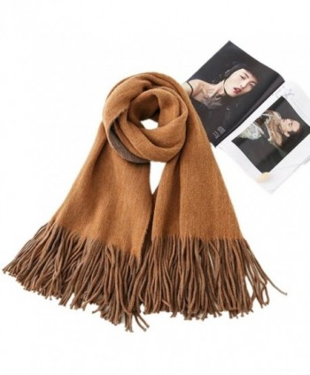 Scarves And Wraps Women's Super Soft Winter Scarf Shawls And Wraps Stole Pure Cashmere For Men - Bronze - C31873NZWIO