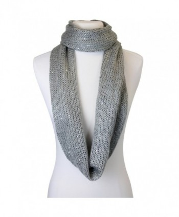 Sequin Specked Infinity Winter Scarf