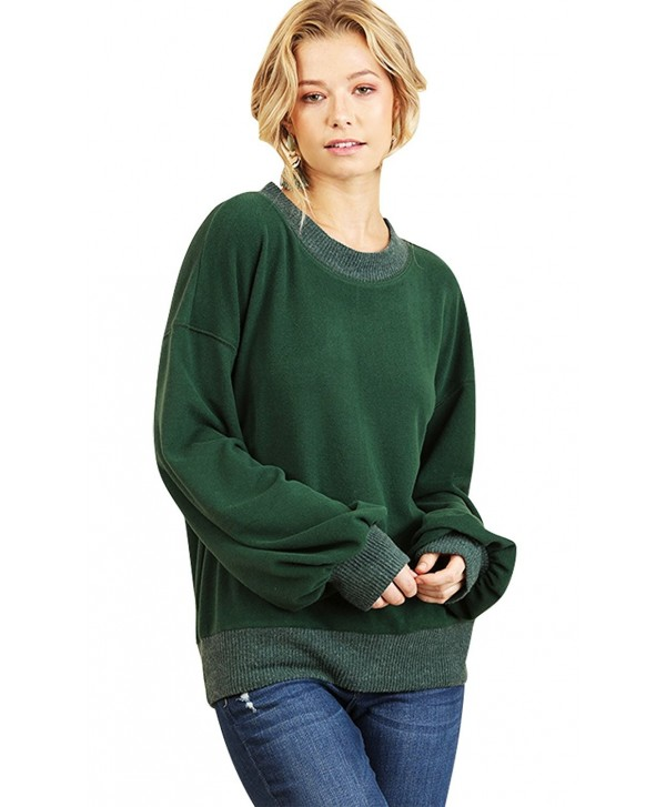 Umgee Oversized Stylish Weather Sweater - Hunter Green - CR1898E6AND