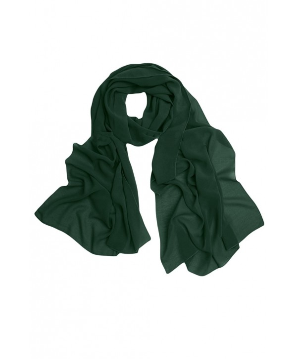 Sunvary Chiffon Bridal Evening Shawls Wedding Scarves Stoles and Straps - Dark Green - C8188NXWZ5T