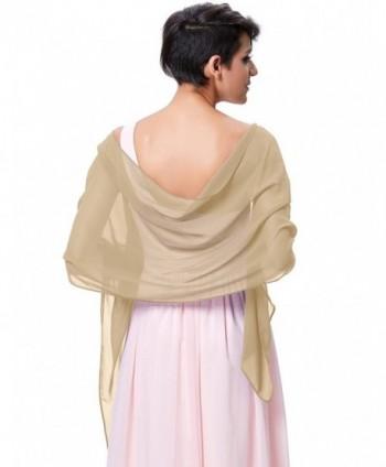 Kate Kasin Soft Chiffon Scarve Shawls Wraps and Pashmina for Evening Party KK229 - Champagne - CS185TGDRS3