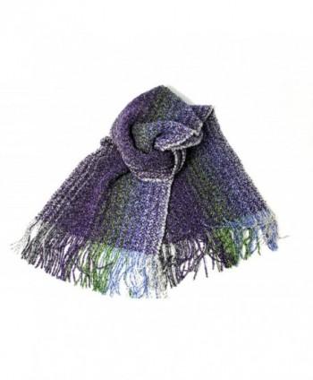 Wool Scarf Hand Woven Merino & Cashmere - Purple - CD11HJMQ4JP