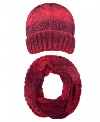 SUNNYTREE Beanie Skull Cap Winter Knit Hats Snowboard Hat and Scarf Sets For Women Mens - Red - C4187MGW8LC