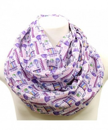 Handmade Science infinity Scarf birthday gift idea for her anniversary gift experiment scientist purple violet - C8182ET3M40