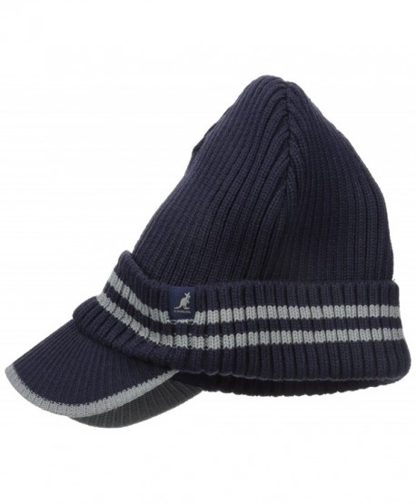 Kangol Men's Ribbed Peak Pull-on - Navy/Grey - CO126DZEKKX