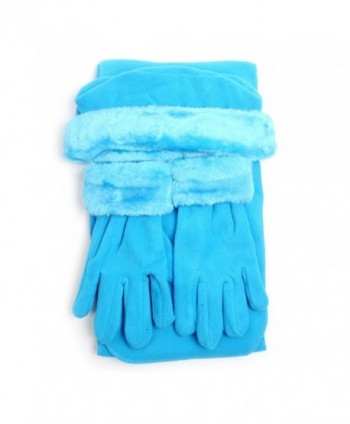 Women's Warm Polyester Fleece Winter Set - Turquoise - CY186GZOLOZ