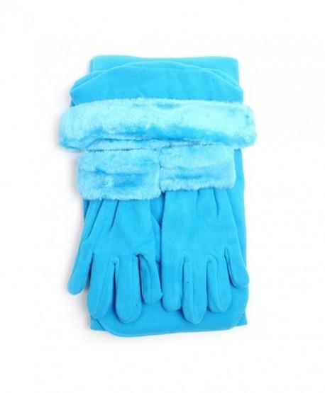Women's Warm Polyester Fleece Winter Set - Turquoise - CY186GZOLOZ